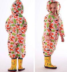 Los niños de poliéster impermeable chaqueta impermeable a los niños Rain Cover 2018
