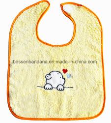 Diseño personalizado el algodón aplique bordado Terry bebé niño Bib