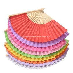 Ventilatore piegante della mano stampato abitudine di carta promozionale del ventilatore della mano
