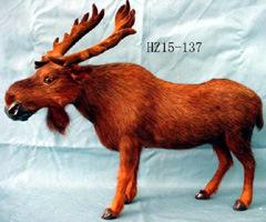 毛皮で覆われたシカアメリカヘラジカのおもちゃ(F036)
