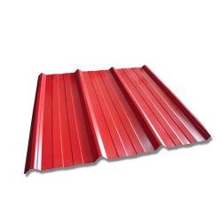 Material de construção galvanizado revestido de cor de Papelão Ondulado Prepainted Telhas de aço preço Folha materiais de cobertura