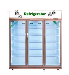 カウンタートップのクーラーの飲料冷却装置/Chillerのショーケースガラスのドアの下の表示
