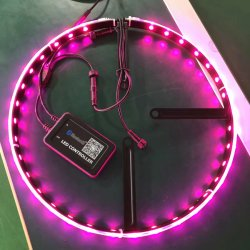"""SMD5050 kundenspezifische LED Lichter für Autos imprägniern 15 """" Rad-Ring-Licht-mehrfarbiges schneidenes Synchronisierungs-Licht zur Musik"""