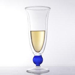 Vidrio de borosilicato Abbcqc9-1 Bebidas copa de vino de doble pared tazas / Mugs