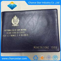 Logotipo personalizado da pasta de arquivo de couro, Luva de credenciais, o titular do cartão de PU