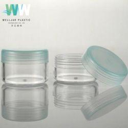 Vaso crema di plastica cosmetico del vaso 10g PS con la protezione dei pp