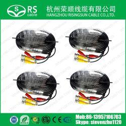 Pre-Made CCTV d'alimentation et câble de caméra de sécurité vidéo VP10m