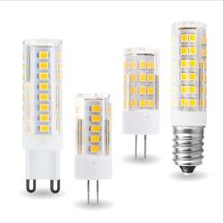 3W, 4W, 5W, 7W, G4, G9, E14 Lâmpada LED, 220V CA, lâmpada LED SMD LED SABUGO2835 360 Lâmpada, Ângulo de feixe para substituir a lâmpada de halogéneo