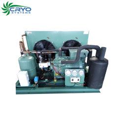 Enchufe la unidad del condensador en la azotea de la unidad de refrigeración Bitzer sala fría el compresor de tipo abierto para la venta de la unidad de condensación.