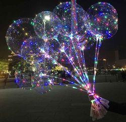 Novo Estilo de Bobo balão com 3 m de fio de faixa de LED e bastonetes balões de LED