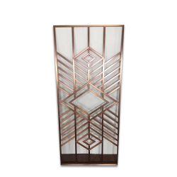 Die 304 PVD Farbe Golded Spiegel ätzte Edelstahl-Beschaffenheit
