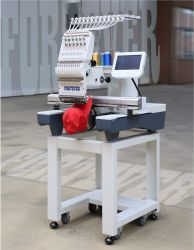 Tête simple Machine à broder haute vitesse pour le plat, PAC et de vêtements finis