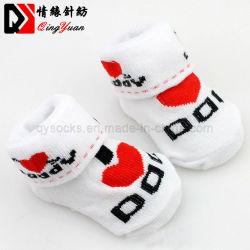 100% algodão meias Bebé Piso antiderrapante meias Amor Pai Amor Mum Cartoon Pequenas Kid's meias Socls OEM do cliente