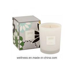 Cera de soja las velas perfumadas en Soporte de vidrio con hermosas Box