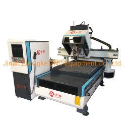 Máquina de trabalho de madeira carrossel de roteador Router CNC 1325 ATC para máquina de esculpir em madeira escura com 20 peças Lâminas
