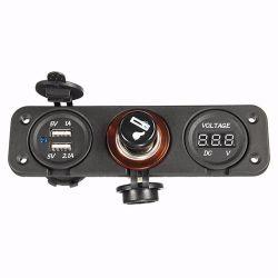 12V Lader van de Adapter van de Contactdoos USB van de Aansteker van de auto de Dubbele