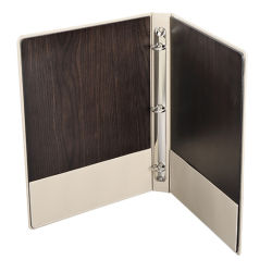 Personalizar la combinación de cuero y madera de lujo invitado Crema Directory