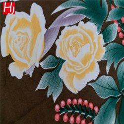 100% polyester et de matériel imprimé motif de fleurs en tissu drap de lit