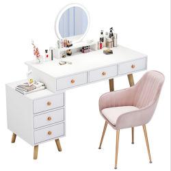 純木の足の軽く贅沢な化粧台の寝室の現代最小主義の収納キャビネットの統合された北欧の化粧台のネット赤いInsの風0007