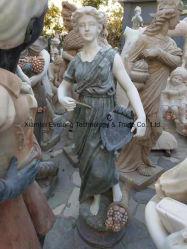 Jardin de sculptures en marbre sculpté la Statue avec du granit de grès de sculpture sur pierre