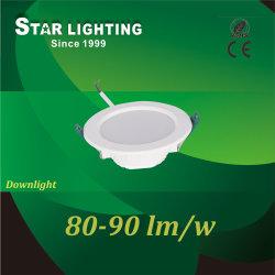 Usine de LED blanche Ce commerce de gros 9W encastré plafond COB Downlight Led pour l'hôtel/Shopping Mall/Musée/Salle de bains