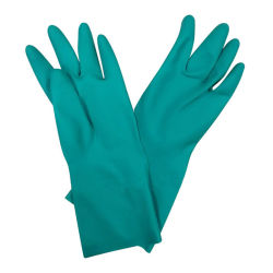 أخضر نتريل [إيندوستريل غلوف] أمان كيميائيّ عمل قفّاز