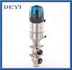 SS316L de aço inoxidável Ll Pneumática tipo válvula de marcha com Cabeça de controlo