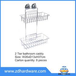 2 Tier Badezimmer Caddy Dusche Shelf Körbe Badezimmer Hardware Fittings