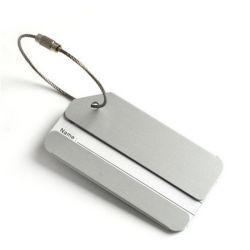 Alliage d'aluminium de l'embarquement de délivrance de licences d'embarquement Bagages Les bagages de voyage carte porte le nom Tag Tags valise étiquette-adresse