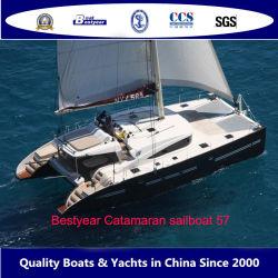 Bestyear Fiberglass 57FT 17m Katamaran Segeln Sport Vergnügen Boot Luxus Yacht