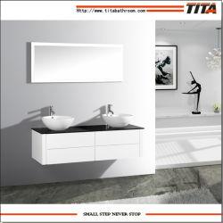 Meuble-lavabo double vasque Salle de bains/monté sur un mur salle de bain Salle de bains blanche Cabinet Cabinet/T9012