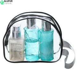 호텔을%s 손잡이 결박 지퍼 마감을%s 가진 작은 PVC 투명한 플라스틱 장식용 핸드백