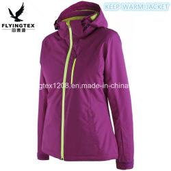 女性の服装の屋外のスキースーツの冬の暖かさのパッチワークのジャケット