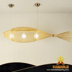سمكة شكل فندق حديثة زخرفيّة خيزرانيّ مدلّاة ضوء ([ك-و])