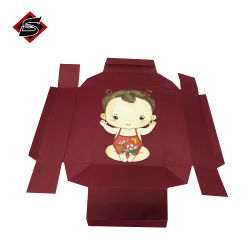 Groothandel Eco-Friendly Brown Black Kraft Paper Bedrijfsnaam Dlapsible Folding Verpakking van de kaartdoos
