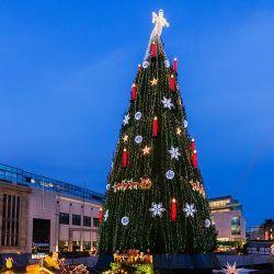 Forniture per fabbrica di decorazione per alberi di Natale LED grandi da 30 piedi