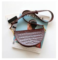 Emg6209十字袋のイタリア製ワニパターン革ハンドバッグは女性をサドル袋と決め付けた