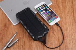 Для использования вне помещений переносные солнечные банк 20000 mAh зарядное устройство для мобильных ПК на базе солнечной энергии на печатной плате бортового зарядного устройства аккумулятора с прикуривателем Компас