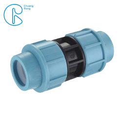 Tubo de plástico PP PN16 Adaptador de compresión el acoplamiento