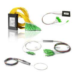 FTTH Council FTTB 1X2, 1X4, 1X8, 1X16, 1X32, 1X64 tubo Mini caixa de Fibra Óptica PLC Splitterabs Divisor PLC de Fibra Óptica
