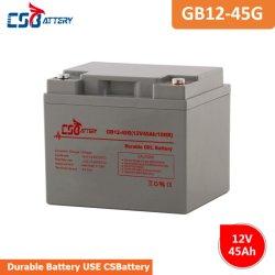 Csbattery 12V45Ah Mf Гелиевый аккумулятор для ИБП/Emergency-Light/игрушки/адаптер/LED-Power-Supply
