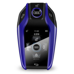 CF400 Smart Key Digital LCD Control Remoto Llavero. Metal de aleación de aluminio con llave de coche alarma de coche