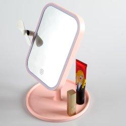 [ييشن] [لد] [رشرجبل] بنية مرآة مع مروحة مصغّرة & [لد] مرآة خفيفة