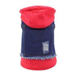 Lapel Vests Classic Hoodes Puppy Blue Vintage 세탁된 옷