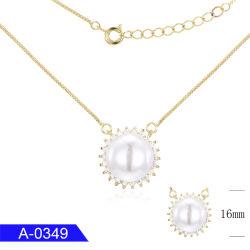 工場卸し売り新しい到着の女の子のためのハンドメイドの個人化された銀製の方法宝石類の真珠のネックレス