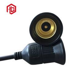 Titular de la lámpara de luz eléctrica E27 Blanco/Negro Los conectores macho y hembra el tapón de goma/PVC/nylon