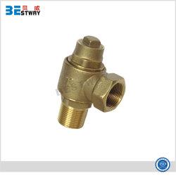 NPT резьбой латунный поворотного типа с обжимным кольцом клапан латунный давления срабатывания предохранительного клапана