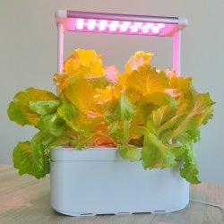 스마트 하이드로포닉 시스템 키친 어플라이언스 허브 야채 실내 정원 플레이터 LED가 있는 식물 화분 정원 세트 조명 성장