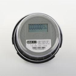 1 DDS-1L seule phase de compteur d'énergie ronde à deux fils avec afficheur LCD IR compteur KWH 100A