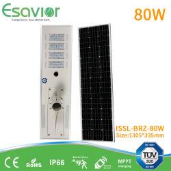 TUV Munufacturer 5W-200W integrado resistente al agua todo en uno de los LED de Energía Solar de la luz de la calle con IP67 CE RoHS IK10